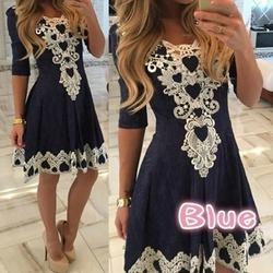 A-line Solid Dress L...